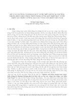 ĐỀ XUẤT HƯỚNG CẢNH BÁO MỰC NƯỚC BIỂN DÂNG DỊ THƯỜNG TRONG ĐIỀU KIỆN PHÁT TRIỂN SÓNG LỪNG KẾT HỢP MỰC NƯỚC TRIỀU KỲ TRIỀU CƯỜNG TẠI CÁC VÙNG VEN BIỂN VIỆT NAM