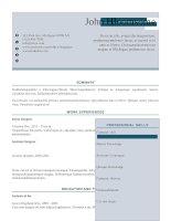 Mẫu CV xin việc bằng doc   1 two tone colour