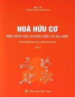 Giáo trình Hóa hữu cơ, hợp chất hữu cơ đơn chức và đa chức tập 2, NXB y học, chủ biên PGS.TS Trương Thế Kỷ