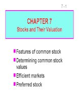 FM11 Ch 07 Stocks and Their Valuation