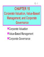 FM11 Ch 15 Corporate Valuation, Value-Based Management, and Corporate Governance