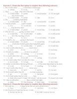 Bài tập tổng hợp về bàng thái cách trong tiếng anh