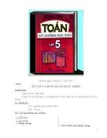 Giáo án toán bồi dưỡng học sinh lớp 5