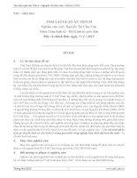 tóm tắt luận án các mô hình phân tích sự chuyển dịch cơ cấu kinh tế in quá trình công nghiệp hóa, hiện đại hóa đất nước