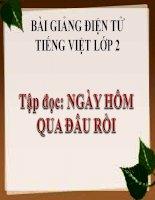 Bài giảng Tiếng Việt 2 tuần 1 bài Tập đọc - Ngày hôm qua đâu rồi