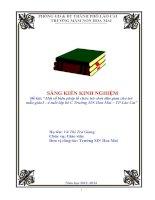 SÁNG KIẾN KINH NGHIỆM : Một số biện pháp tổ chức trò chơi dân gian cho trẻ  mẫu giáo3  4 tuổi lớp bé C Trường MN Hoa Mai – TP Lào Cai