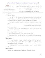 Tuyển tập 50 đề thi thử THPT Quốc gia môn ngữ văn cực hay (có đáp án chi tiết)