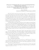 Tổng quan về tình hình nhân lực CNTT  TT thành phố Hồ Chí Minh giai đoạn 2008  2012; Dự thảo chương trình phát triển nguồn nhân lực CNTT  TT thành phố giai đoạn 20122015