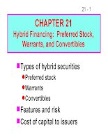 FM11 Ch 21 Hybrid Financing_Preferred Stock,Warrants, and Convertibles