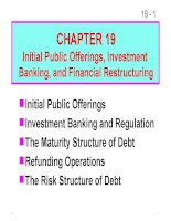 FM11 Ch 19 Initial Public Offerings, Investment Banking, and Financial Restructuring