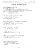 Các phương pháp viết phương trình đường thẳng và mặt phẳng không gian