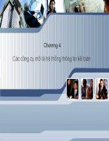 Chương 4Các công cụ mô tả hệ thống thông tin kế toán