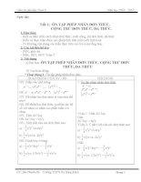 Giáo án phụ đạo toán học 8