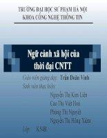 Tiểu luận Một số vấn đề xã hội của Công nghệ thông tin Ngữ cảnh xã hội của thời đại CNTT