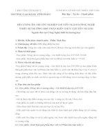 ĐỀ CƯƠNG ÔN THI TỐT NGHIỆP CHUYÊN NGÀNH CÔNG NGHỆ THIẾT BỊ TRƯỜNG HỌC PHẦN KIẾN THỨC CHUYÊN NGÀNH