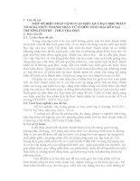 MỘT SỐ BIỆN PHÁP NÂNG CAO HIỆU QUẢ DẠY HỌC PHÂN TÍCH ĐA THỨC THÀNH NHÂN TỬ Ở MÔN TOÁN ĐẠI SỐ 8 TẠI TRƯỜNG PTDTBT - THCS TRÀ DON