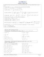 Luyện thi đại học chuyên đề phương trình mũ