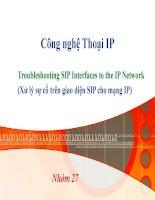 Tiểu luận tìm hiểu Công nghệ Thoại IP