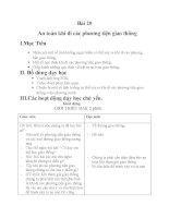 Bài 20 an toàn khi đi các phuong tiên gia thông