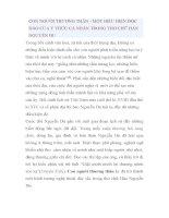 CON NGƯỜI THƯƠNG THÂN MỘT BIỂU HIỆN ĐỘC ĐÁO CỦA Ý THỨC CÁ NHÂN TRONG THƠ CHỮ HÁN NGUYỄN DU