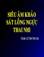 Siêu âm khảo sát lồng ngực thai nhi, TS.BS.Lê Thị Thu Hà