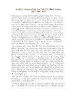 NHỮNG ĐÓNG góp của THẾ lữ vào PHONG TRÀO THƠ mới