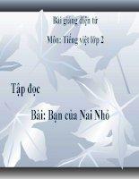 Bài giảng Tiếng Việt 2 tuần 3 bài Tập đọc - Bạn của Nai Nhỏ