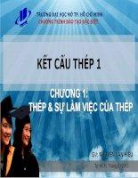 Bài giảng Kết cấu thép 1 Chương 1 - Nguyễn Văn Hiếu