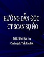 Huong dan doc CT scaner sọ não