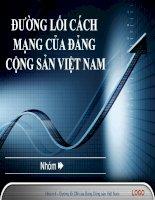 Bài thuyết trình Đường lối cách mạng của Đảng Cộng sản Việt Nam Chủ trương của Đảng về giải quyết các vấn đề xã hội bức xúc hiện nay ở Việt Nam