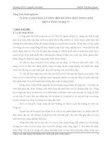 NÂNG CAO CHẤT LƯỢNG BỒI DƯỠNG HỌC SINH GIỎI MÔN CÔNG NGHỆ 7