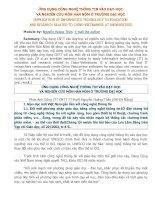 skkn ỨNG DỤNG CÔNG NGHỆ THÔNG TIN vào dạy học và NGHIÊN cứu môn hán nôm ở TRƯỜNG đại học