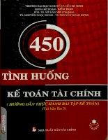 450 tình huống kế toán tài chính -Hướng dẫn thực hành bài tập kế toán