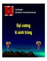 Bài giảng đại cương kí sinh trùng , TS.Nguyễn Ngọc San bộ môn sốt rét kí sinh trùng và côn trùng học viện quân y