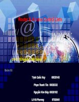 Tiểu luận ứng dụng truyền thông và an toàn thông tin Router & Access Control Lists