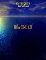 Bài giảng Hoá sinh cơ, TS.Phan Hải Nam học viện quân y