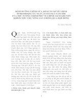 ĐỊNH HƯỚNG CHỈNH SỬA, BỔ SUNG QUYẾT ĐỊNH SỐ 80 2002 QĐ-TTG NGÀY 24 THÁNG 6 NĂM 2002 CỦA THỦ TƯỚNG CHÍNH PHỦ VỀ CHÍNH SÁCH KHUYẾN KHÍCH TIÊU THỤ NÔNG SẢN THÔNG QUA HỢP ĐỒNG