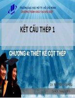 Bài giảng Kết cấu thép 1 Chương 4 - Nguyễn Văn Hiếu