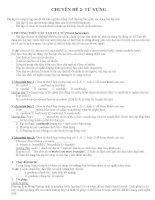 Chuyên đề từ vựng Tiếng Anh ôn thi đại học  cao đẳng