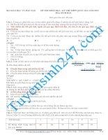 lời giải chi tiết đề thi thử đại học môn sinh năm 2015