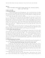 MỘT SỐ BIÊN PHÁP GIÚP HỌC SINH YẾU TOÁN Ở LỚP 5 HỌC TẬP TIẾN BỘ