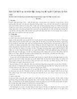 Giá trị hiện thực và nhân đạo trong truyện ngắn vợ nhặt của kim lân
