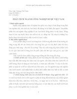 BÀI TẬP CÁ NHÂN MÔN QUẢN TRỊ CHIẾN LƯỢC PHÂN TÍCH NGÀNH CÔNG NGHIỆP DƯỢC VIỆT NAM