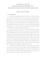SÁNG KIẾN KINH NGHIỆM PHƯƠNG PHÁP DẠY HỌC HIỆU QUẢ PHÂN MÔN VẼ TRANG TRÍ CẤP TRUNG HỌC CƠ SỞ