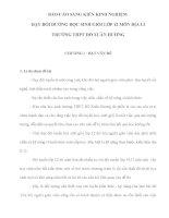 BÁO CÁO SÁNG KIẾN KINH NGHIỆM DẠY BỒI DƯỠNG HỌC SINH GIỎI LỚP 12 MÔN ĐỊA LÍ TRƯỜNG THPT HỒ XUÂN HƯƠNG