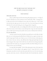 MỘT SỐ BIỆN PHÁP GIÚP TRẺ HỌC TỐT BỘ MÔN LÀM QUEN VĂN HỌC