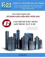 Giáo trình Hướng dẫn sử dụng phần mềm đấu thầu GXD: Lập hồ sơ đấu thầu gói thầu xây lắp