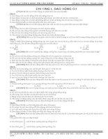 tổng hợp các câu hỏi lý thuyết qua các kì thi cao đẳng đại học