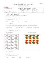 tập đề kiểm tra toán lớp 3 học kì 1