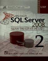 Microsoft SQL Server 2008 - Quản trị cơ sở dữ liệu. Tập 2